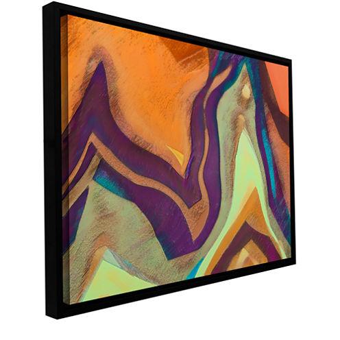 Brushstone Arrt Attack Gallery Wrapped Floater-Framed Canvas Wall Art