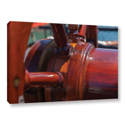Brushstone At The Helm Gallery Wrapped Canvas WallArt