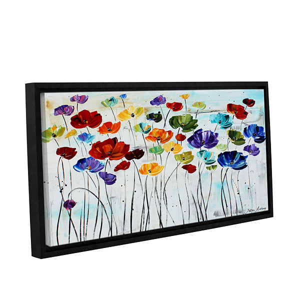 Brushstone Lilies Gallery Wrapped Floater-Framed Canvas Wall Art