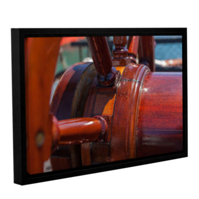 Brushstone At The Helm Gallery Wrapped Framed Canvas Wall Art