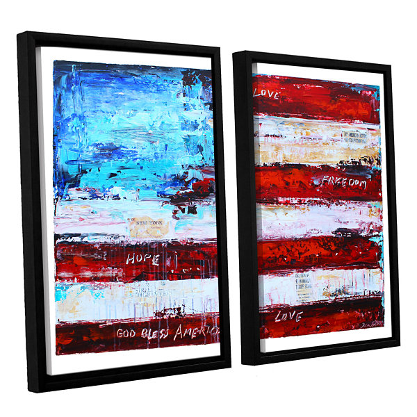 Brushstone America 2-pc. Floater Framed Canvas Wall Art