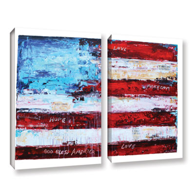Brushstone America 2-pc. Gallery Wrapped Canvas Wall Art