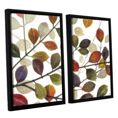 Brushstone Autumn Leaves 2-pc. Floater Framed Canvas Wall Art