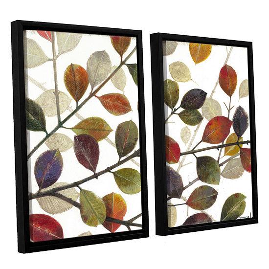 Brushstone Autumn Leaves 2-pc. Floater Framed Canvas Wall Art