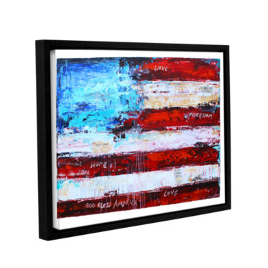 Brushstone America Gallery Wrapped Floater-FramedCanvas Wall Art