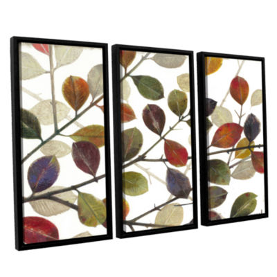 Brushstone Autumn Leaves 3-pc. Floater Framed Canvas Wall Art