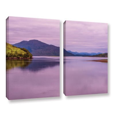 Brushstone Meeting Of The Waters 2-pc. Gallery Wrapped Canvas Wall Art