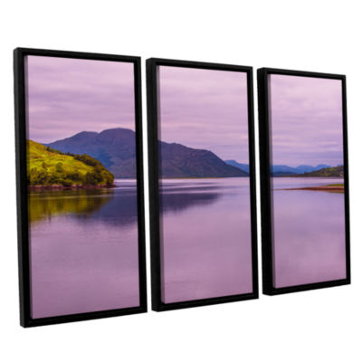 Brushstone Meeting Of The Waters 3-pc. Floater Framed Canvas Wall Art