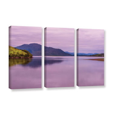 Brushstone Meeting Of The Waters 3-pc. Gallery Wrapped Canvas Wall Art