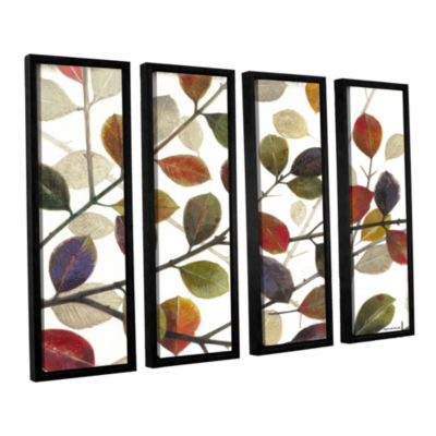 Brushstone Autumn Leaves 4-pc. Framed Canvas WallArt