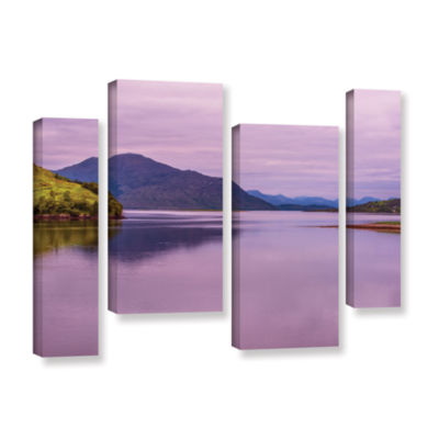 Brushstone Meeting Of The Waters 4-pc. Gallery Wrapped Staggered Canvas Wall Art
