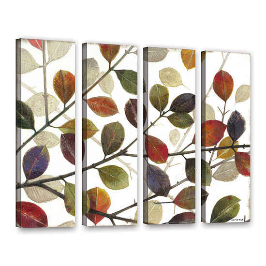 Brushstone Autumn Leaves 4-pc. Gallery Wrapped Canvas Wall Art