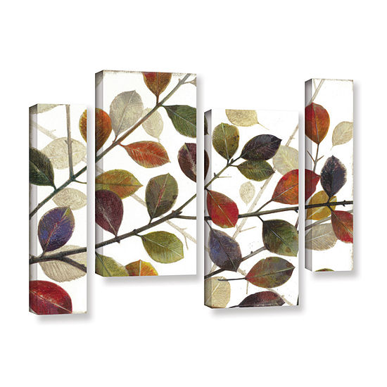 Brushstone Autumn Leaves 4-pc. Gallery Wrapped Staggered Canvas Wall Art