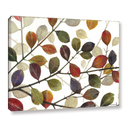 Brushstone Autumn Leaves Gallery Wrapped Canvas Wall Art
