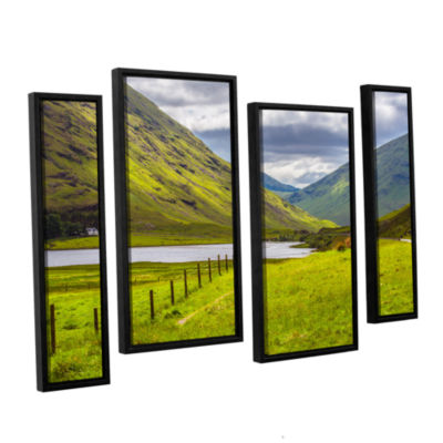 Brushstone At Home In The Mountains 4-pc. FloaterFramed Staggered Canvas Wall Art