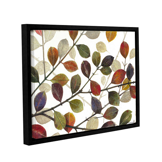 Brushstone Autumn Leaves Gallery Wrapped Framed Canvas Wall Art