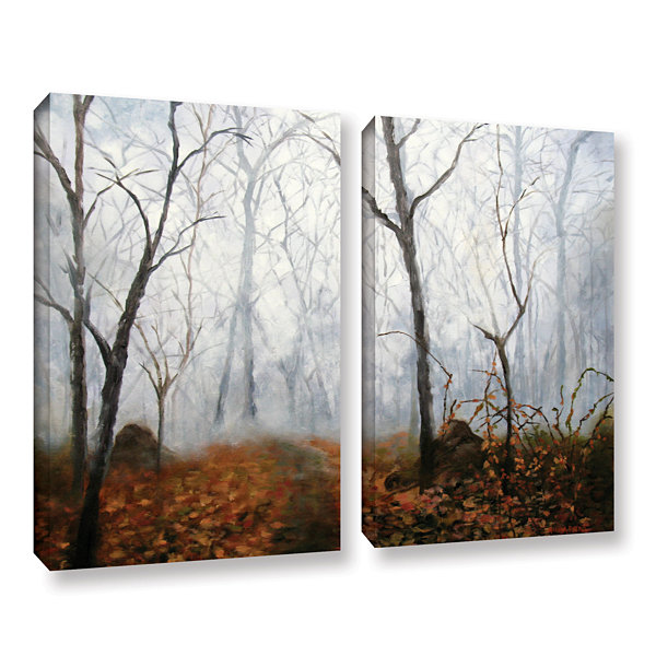 Brushstone Autumn Mist 2-pc. Gallery Wrapped Canvas Wall Art
