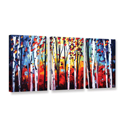 Brushstone Autumn 3-pc. Gallery Wrapped Canvas Wall Art