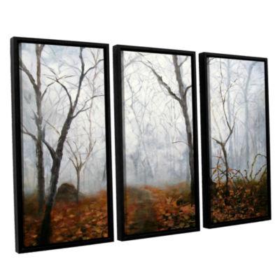 Brushstone Autumn Mist 3-pc. Floater Framed CanvasWall Art