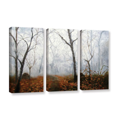 Brushstone Autumn Mist 3-pc. Gallery Wrapped Canvas Wall Art