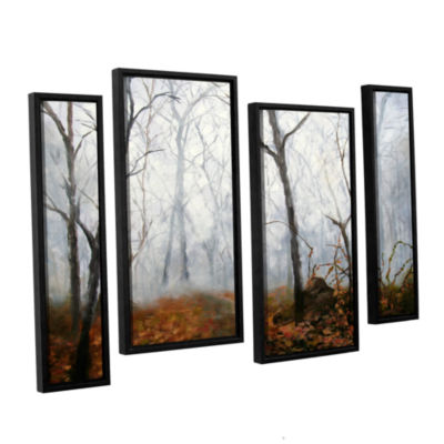 Brushstone Autumn Mist 4-pc. Framed Staggered Canvas Wall Art