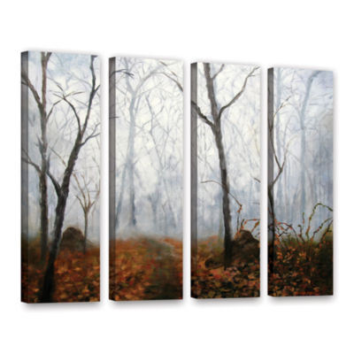 Brushstone Autumn Mist 4-pc. Gallery Wrapped Canvas Wall Art