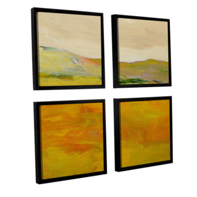 Brushstone Andover 4-pc. Framed Canvas Square