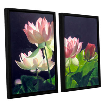 Brushstone Andrea's Lilies 2-pc. Floater Framed Canvas Wall Art