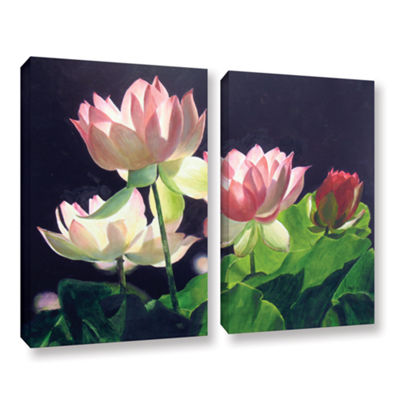 Brushstone Andrea's Lilies 2-pc. Gallery Wrapped Canvas Wall Art