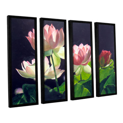 Brushstone Andrea's Lilies 4-pc. Framed Canvas Wall Art