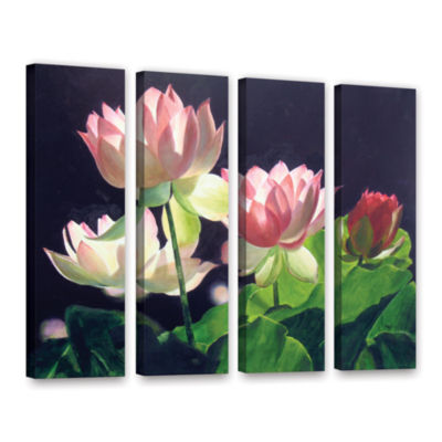 Brushstone Andrea's Lilies 4-pc. Gallery Wrapped Canvas Wall Art