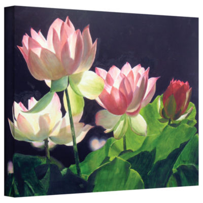Brushstone Andrea's Lilies Gallery Wrapped CanvasWall Art