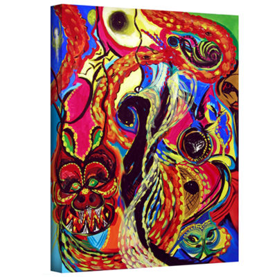 Brushstone Angel And Dragons Gallery Wrapped Canvas Wall Art