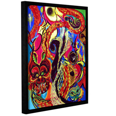 Brushstone Angel And Dragons Gallery Wrapped Framed Canvas Wall Art