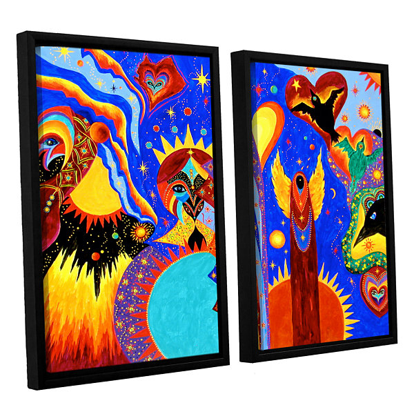Brushstone Angel Fire 2-pc. Floater Framed CanvasWall Art