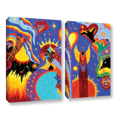 Brushstone Angel Fire 2-pc. Gallery Wrapped CanvasWall Art