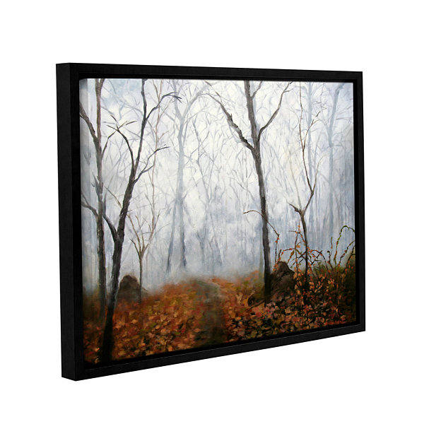 Brushstone Autumn Mist Gallery Wrapped Framed Canvas Wall Art