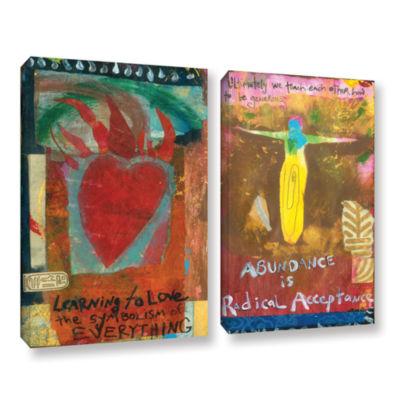 Brushstone Art Journal Abundance 2-pc. Gallery Wrapped Canvas Wall Art