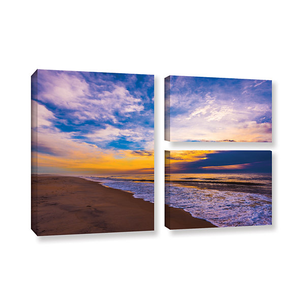 The Long Way 3-pc. Flag Gallery Wrapped Canvas Wall Art