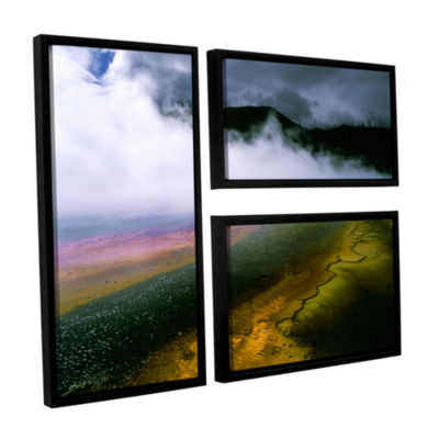 Brushstone Approaching Storm 3-pc. Framed Canvas Wall Art