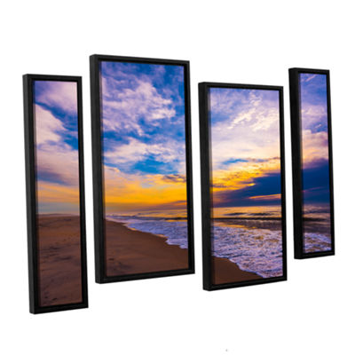 Brushstone The Long Way 4-pc. Floater Framed Staggered Canvas Wall Art