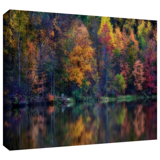 Brushstone Autumn Reflections Gallery Wrapped Canvas Wall Art