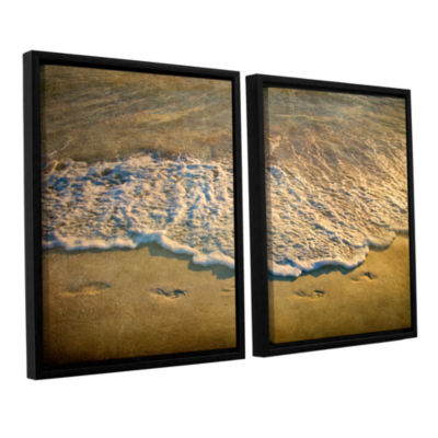 Brushstone At Waters Edge 2-pc. Floater Framed Canvas Wall Art