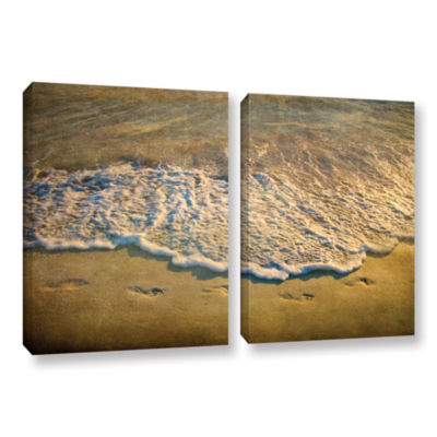 Brushstone At Waters Edge 2-pc. Gallery Wrapped Canvas Wall Art