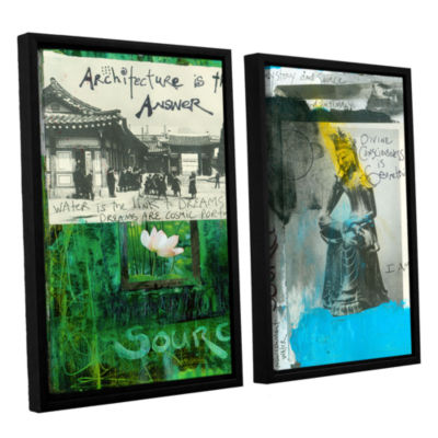 Brushstone Art Journal Architecture 2-pc. FloaterFramed Canvas Wall Art