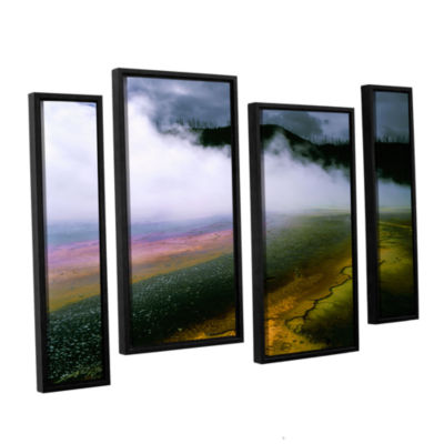 Brushstone Approaching Storm 4-pc. Framed Staggered Canvas Wall Art