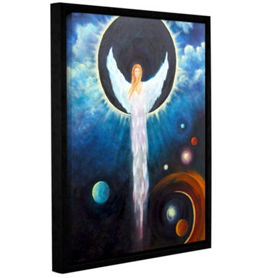 Brushstone Angel Of The Eclipse Gallery Wrapped Framed Canvas Wall Art