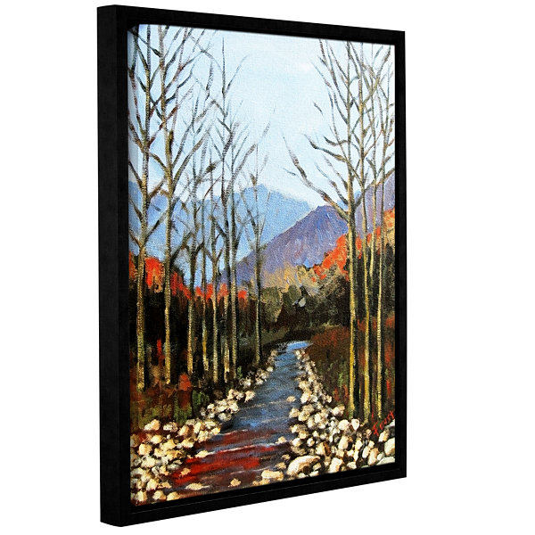 Brushstone Autumn Rising Gallery Wrapped Framed Canvas Wall Art