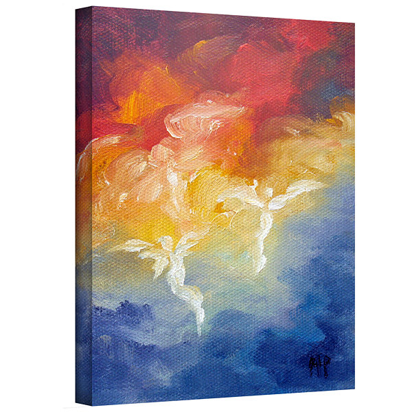 Brushstone Angels Descending Gallery Wrapped Canvas Wall Art