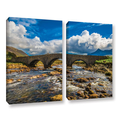 Brushstone The Old Stone Bridge 2-pc. Gallery Wrapped Canvas Wall Art